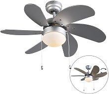 Ceiling fan gray - Fresh 3