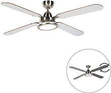 Ceiling fan gray with remote control - Fanattic
