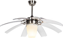 Ceiling fan silver with remote control - Wings 42