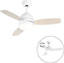Ceiling fan white with remote control - Rotar