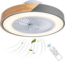 Ceiling Fan with LED Lights and Remote, Wooden