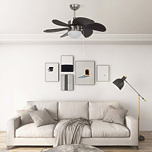 Ceiling Fan with Light 76 cm Dark Brown