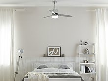 Ceiling Fan with Light Silver Metal 3 Blades