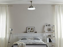 Ceiling Fan with Light Ventilator Silver Synthetic