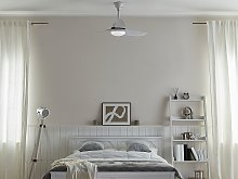 Ceiling Fan with Light Ventilator White Synthetic