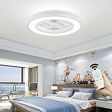 Ceiling-Fan with Lighting Round Remote Control