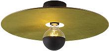 Ceiling lamp black flat shade green 45 cm - Combi