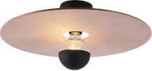 Ceiling lamp black flat shade pink 45 cm - Combi