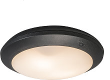 Ceiling Lamp Black with Sensors IP65 - Umberta