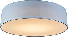 Ceiling lamp blue 40 cm incl. LED - Drum LED