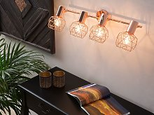 Ceiling Lamp Copper Metal 4 Light Cage Shades