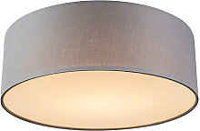 Ceiling lamp gray 30 cm incl. LED - Drum LED