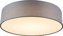 Ceiling lamp gray 40 cm incl. LED - Drum LED