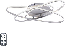 Ceiling lamp gray incl. LED with remote control -