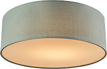 Ceiling lamp green 30 cm incl. LED - Drum LED