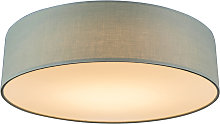 Ceiling lamp green 40 cm incl. LED - Drum LED