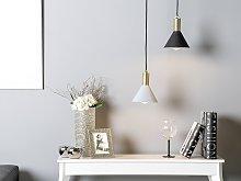 Ceiling Lamp Matte Blue Metal 168 cm Pendant Modern
