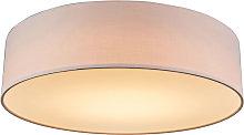 Ceiling lamp pink 40 cm incl. LED - Drum LED