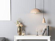 Ceiling Lamp Pink Metal 168 cm Pendant Retro