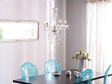 Ceiling Lamp Silver Metal 185 cm High Gloss