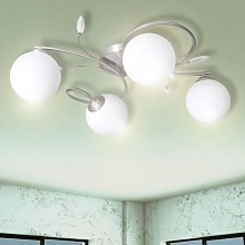 Ceiling Lamp Transparent Acrylic Leaves and Glass
