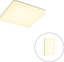 Ceiling lamp white square incl. LED, light-dark