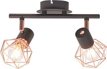 Ceiling Lamp with 2 LED Filament Bulbs 8 W -