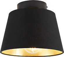 Ceiling Lamp with 20cm Cotton Shade - Combi Black