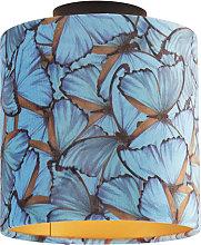 Ceiling Lamp with 20cm Velvet Butterfly Shade -