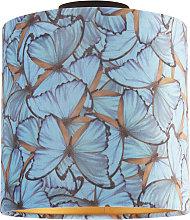 Ceiling Lamp with 25cm Velvet Butterfly Shade -