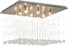 Ceiling Lamp with Crystal Beads Silver Cubic G9 -