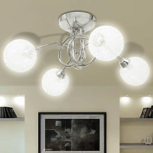 Ceiling Lamp with Mesh Wire Shades for 4 G9