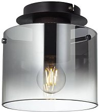 Ceiling light Beth with smoke shade, one-bulb