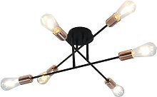 Ceiling Light Black and Copper E27 - Black - Vidaxl