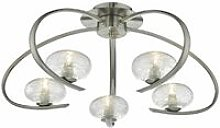 Ceiling light Leighton satin chrome and glass 5