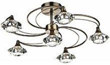 Ceiling light Luther antique brass and crystal 6
