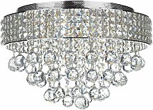 Ceiling light Matrix crystal and polished chrome 5