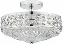 Ceiling light Olona polished chrome and crystal 3