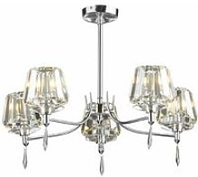 Ceiling light Selina polished chrome and crystal 5