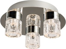 Ceiling Light with Bubbled Glass Shades & Flush