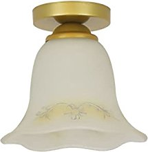 Ceiling Light with Clear Glass Shade, Semi Flush