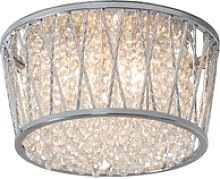 Ceiling Light with Glass Crystals & Flush Fitting