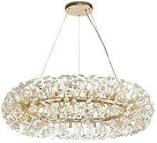 Ceiling Pendant 26 Light G9 French Gold, Crystal -