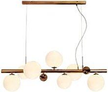 Ceiling Pendant, 7 x G9, Antique Copper, Opal &
