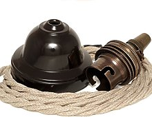 Ceiling Pendant Kit incl. New Solid Bakelite Brown