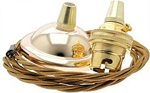 Ceiling Pendant Kit incl. Polished Brass Effect