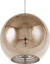 Ceiling Pendant Lamp Light Globe Glam Glass Gold