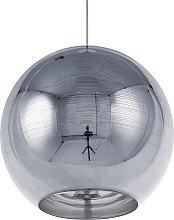 Ceiling Pendant Lamp Light Globe Glam Glass Silver
