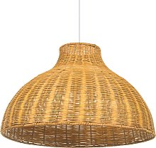 Ceiling Pendant Lamp Rattan Yellow Modern Boho