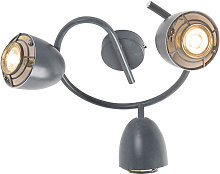 Ceiling spot gray round swivel and tiltable